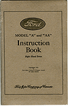 RHD Model A Instruction Book  -  Code: BA-3RHD