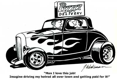 hot rod cartoon showcase from o neill vintage ford uk Basic Starter Wiring Diagram pizza delivery hotrod cartoon